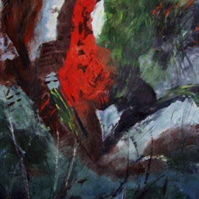 """""""Am Rand der Wildnis"""" - Öl - 2007 - 100cm x 80cm"""