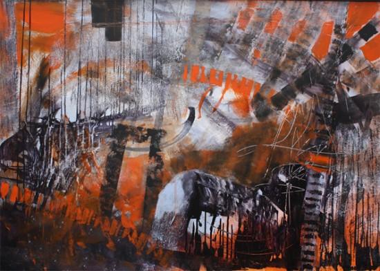 """bridges"" Acryl - 2015 100cm x 140cm"