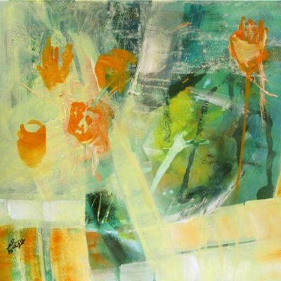 """""""flowers"""" Acryl - 2015 - 50cm x 60cm"""