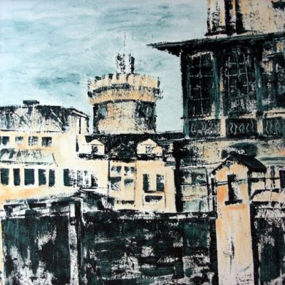 """Spremberger Turm2"" Acryl - 2011 - 100cm x 100cm"