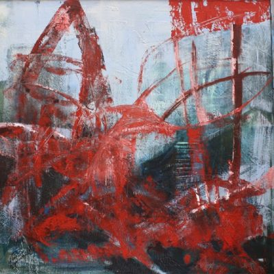 """red inspiration"" Acryl - 2015 - 100cm x 100cm"